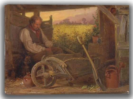 Riviere, Briton:The Old Gardener. Fine Art Canvas. Sizes: A4/A3/A2/A1 (004132)